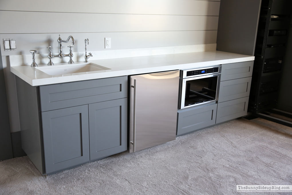 shiplap-wall-grey-cabinets-thermador-appliances