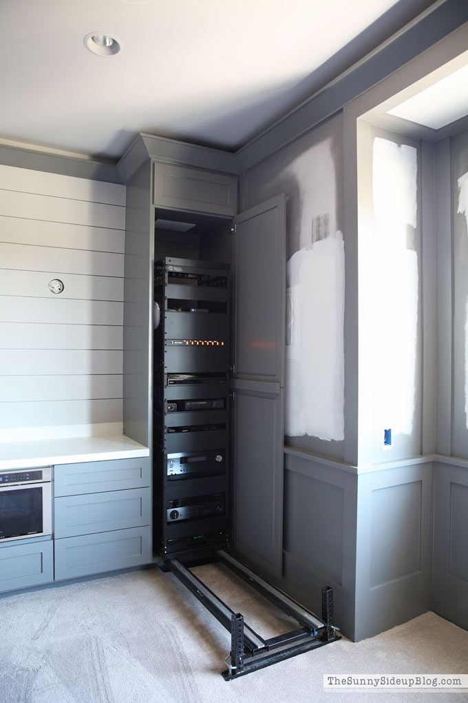 theatre-room-grey-paint-molding-shiplap
