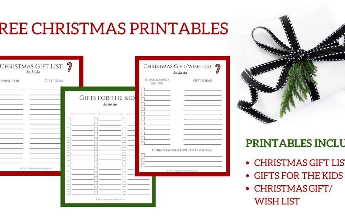 Free Christmas Printables for Organized Gift Giving!