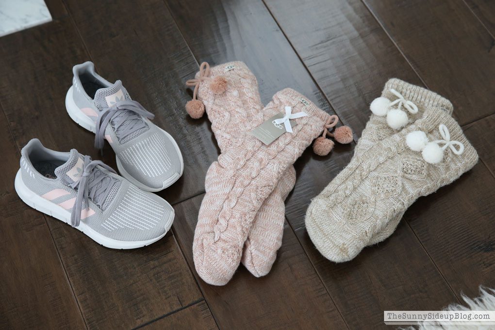 adidas shoes and ugg socks