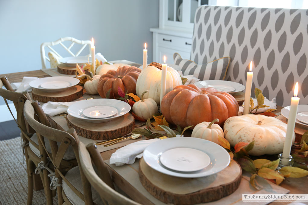 Candlelit Thanksgiving table