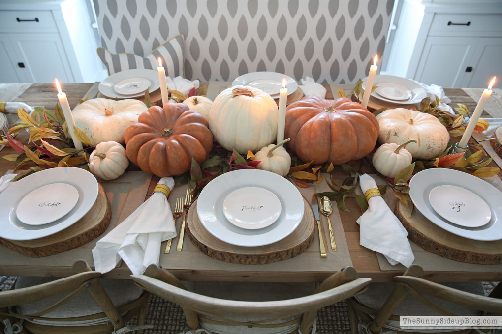 Thanksgiving Pumpkin Tablescape