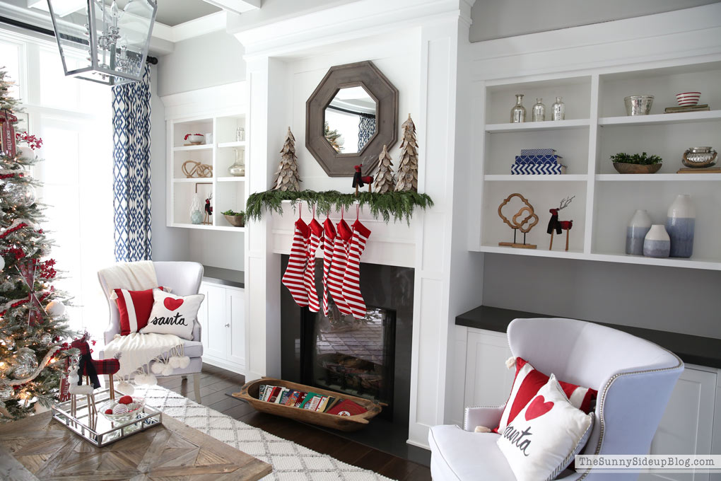 Christmas Home Tour (living and family room)