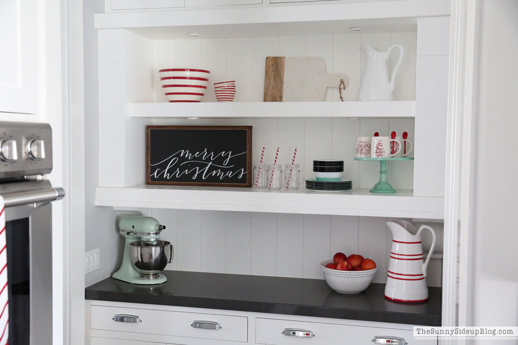 butler's pantry shelf decor