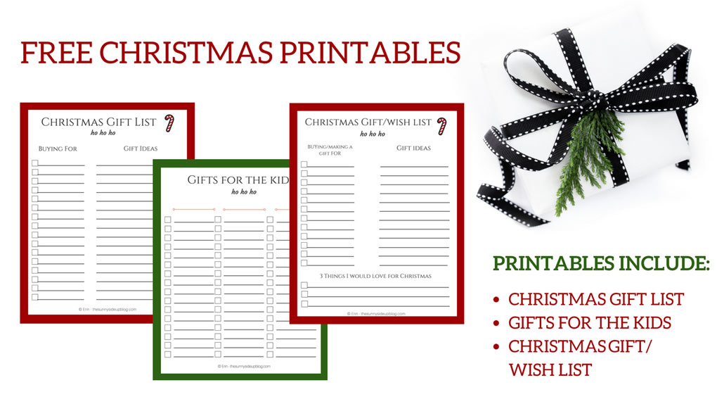 Christmas Gift Giving Printables (Sunny Side Up)