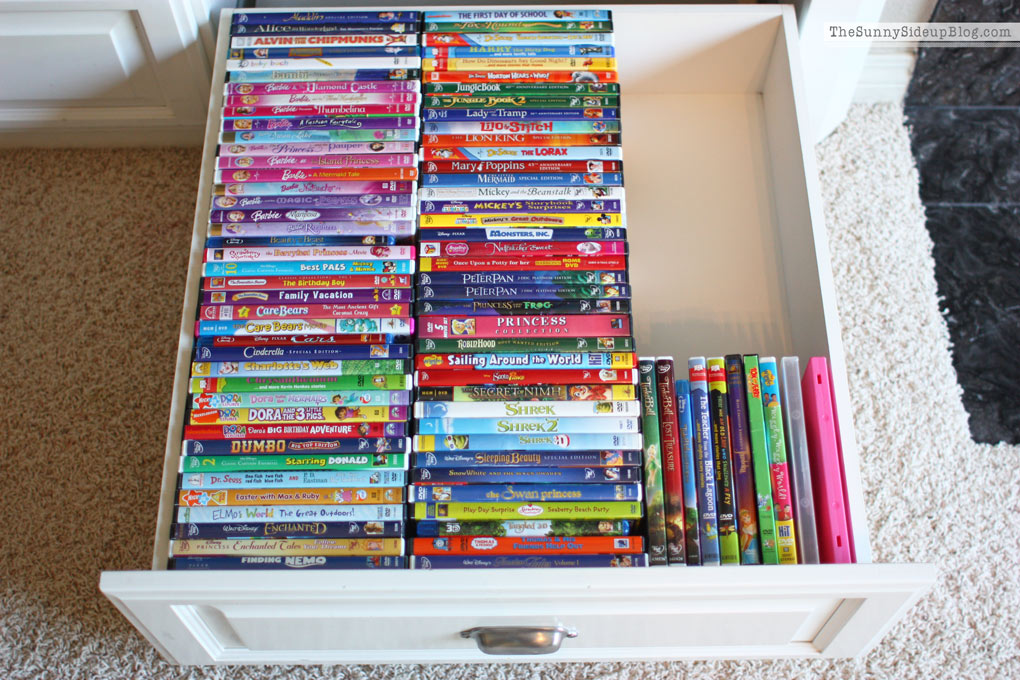 organized DVD drawer