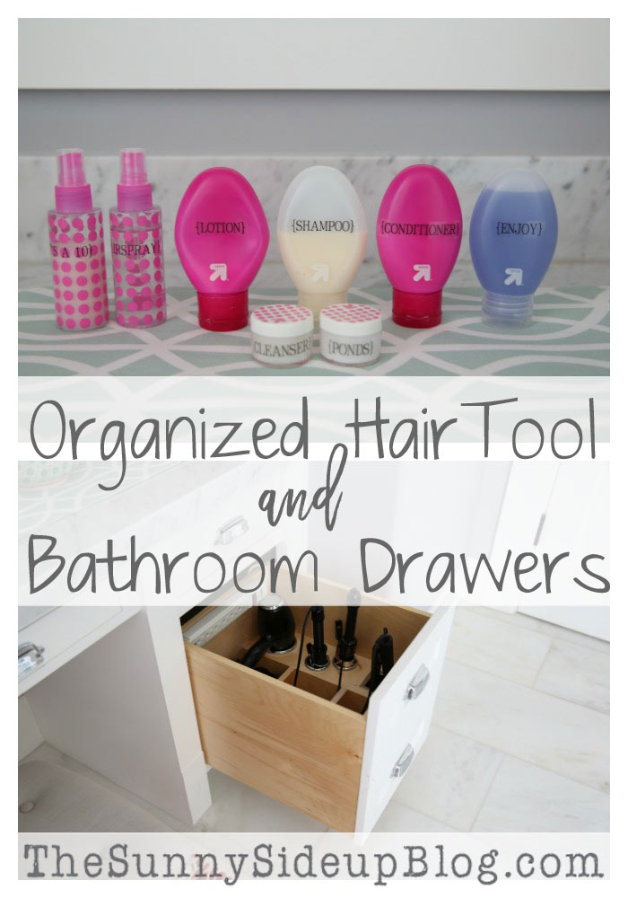 organized hair tools