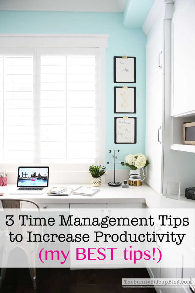 3 time management tips to increase productivity