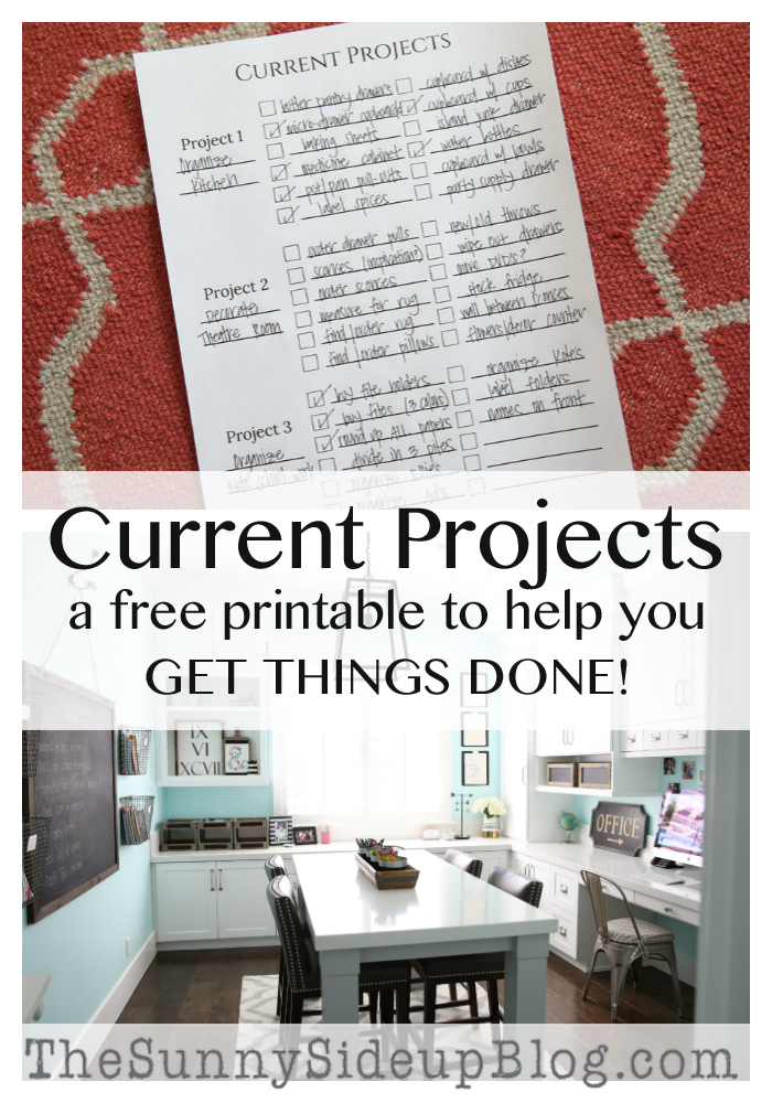 FREE printable to help you complete projects! (No more procrastinating!) Sunny Side Up