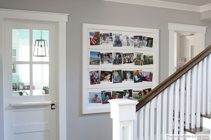 Shiplap Display Wall (through the seasons)