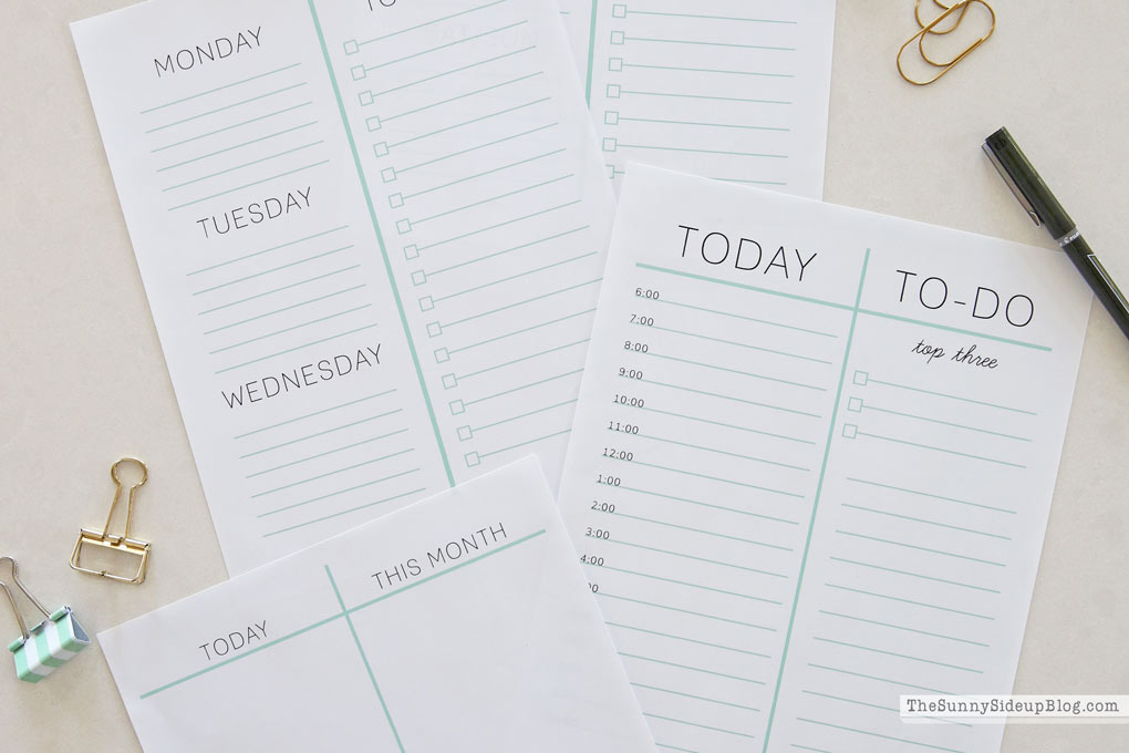 How I Plan My Day (with free printables!)