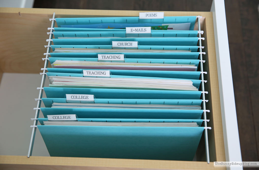 Organized Paper Files (Sunny Side Up)