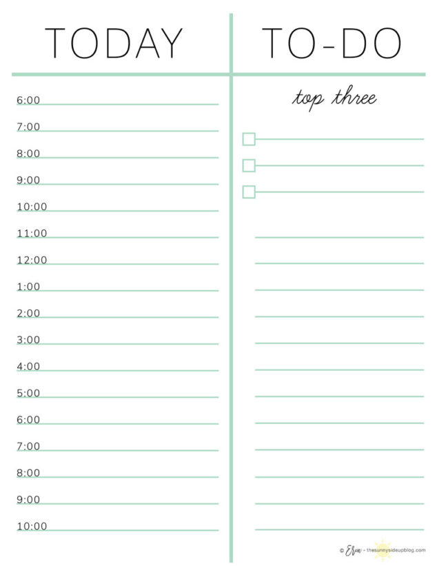 How I Plan my Day (with free planning printables!) Sunny Side Up