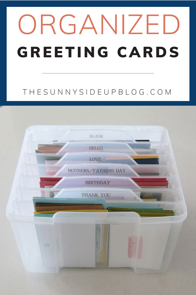 Organized Greeting Cards (Sunny Side Up)