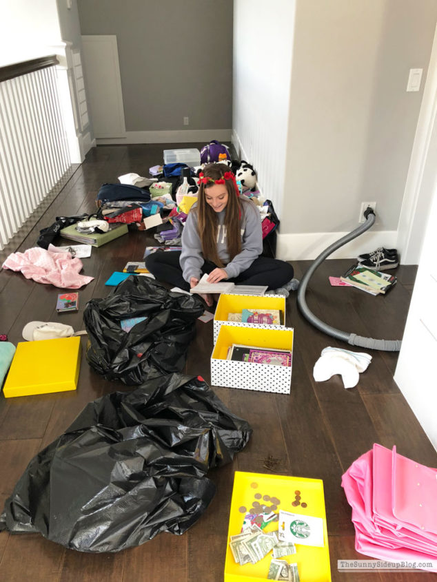 Organizing Progress and Girls School Clothes (Sunny Side Up)