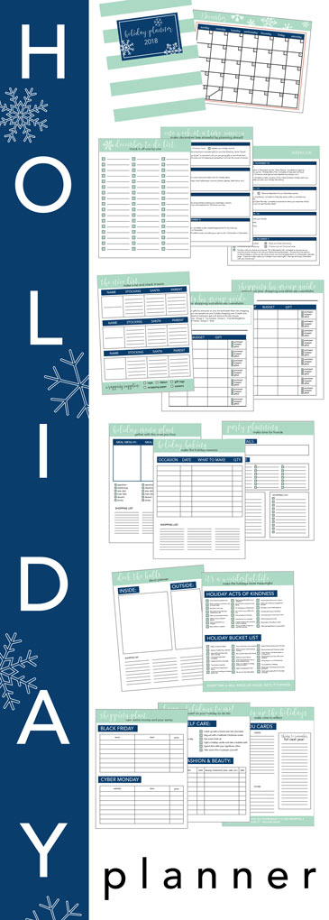 HOLIDAY PLANNER! Includes everything you need to organize your holidays! (Sunny Side Up)