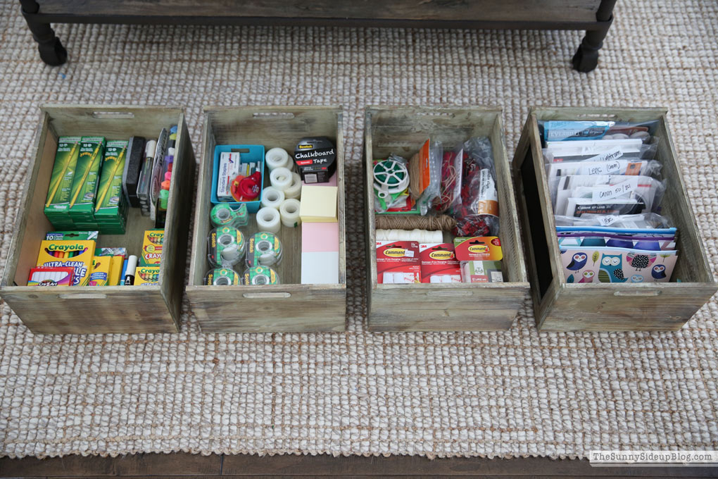 Organized Office Supplies (Sunny Side Up)