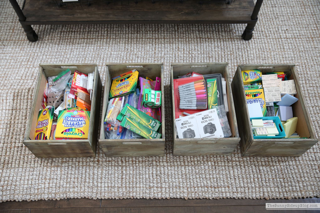 Organized School Supplies and Recent Favorites!