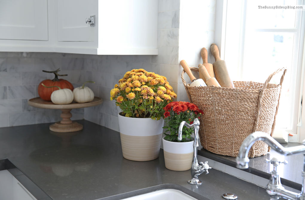 Fall Kitchen Decor (and new rugs!)