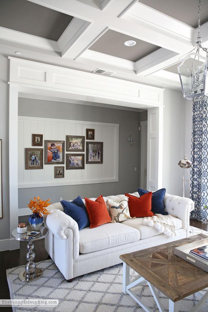 Fall Decor Formal Living Room (Sunny Side Up)