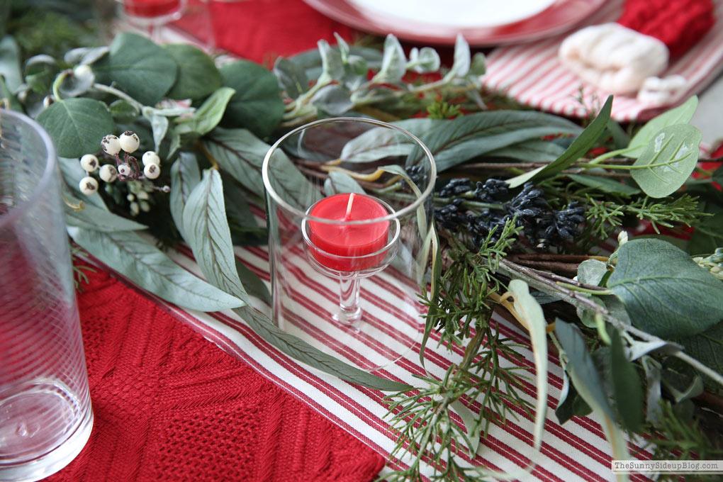 Christmas Table Setting (Sunny Side Up)