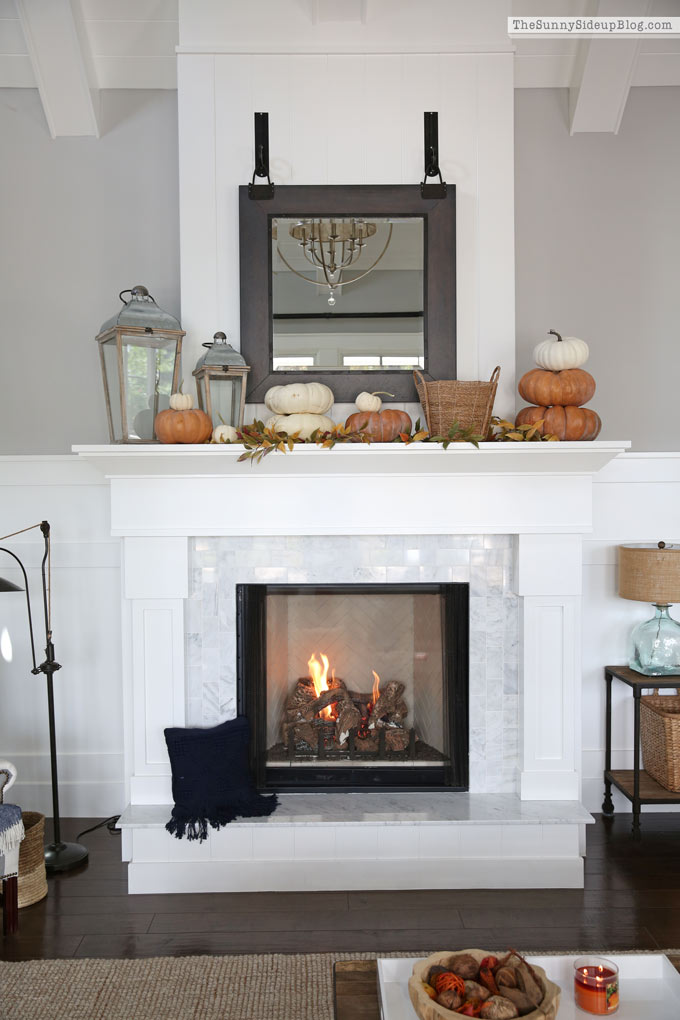 Family Room Fall Decor (Sunny Side Up)