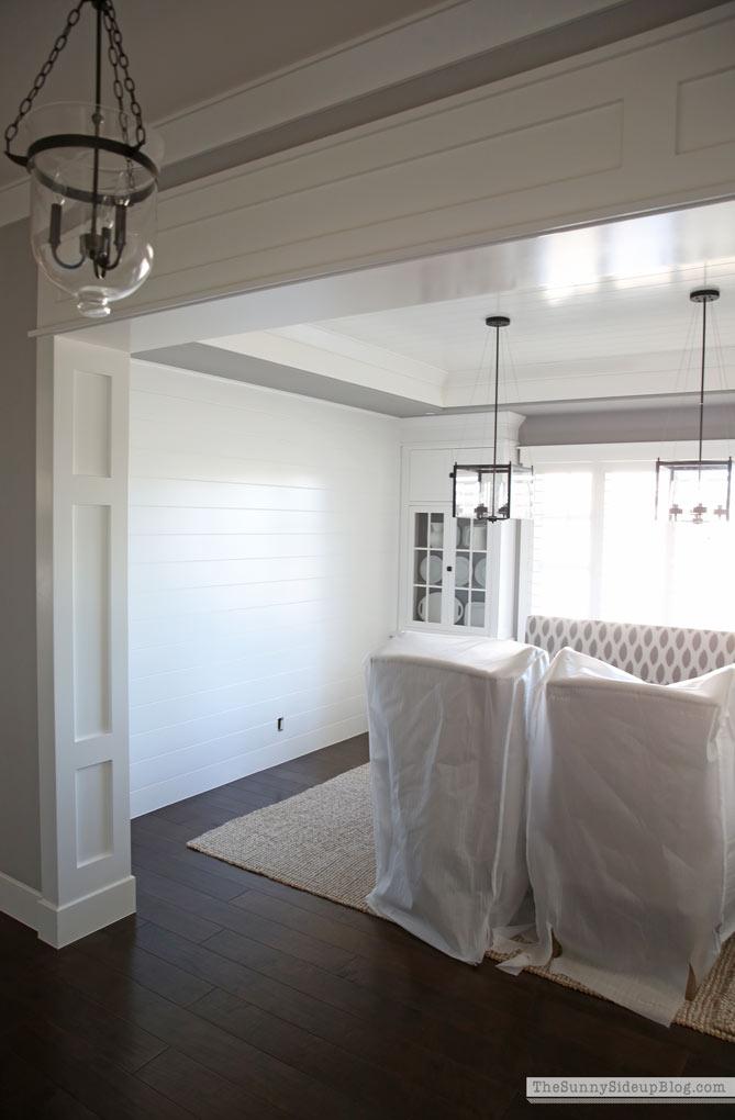 Shiplap Wall Dining Room Progress! (Sunny Side Up)