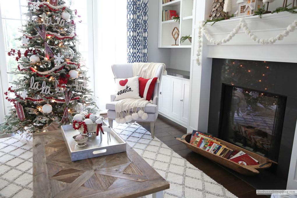 Flocked Christmas Tree (Sunny Side Up)