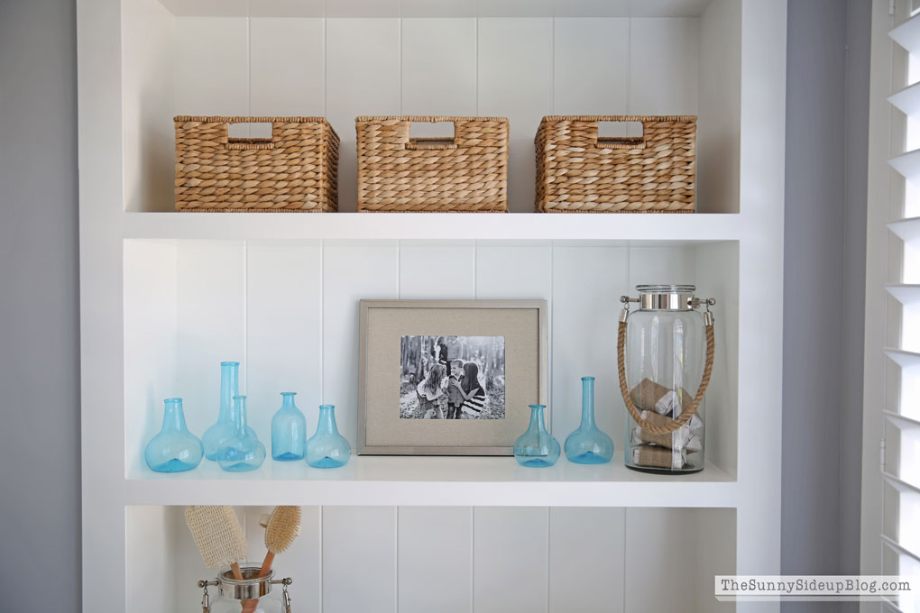 Organizing with baskets (Sunny Side Up)