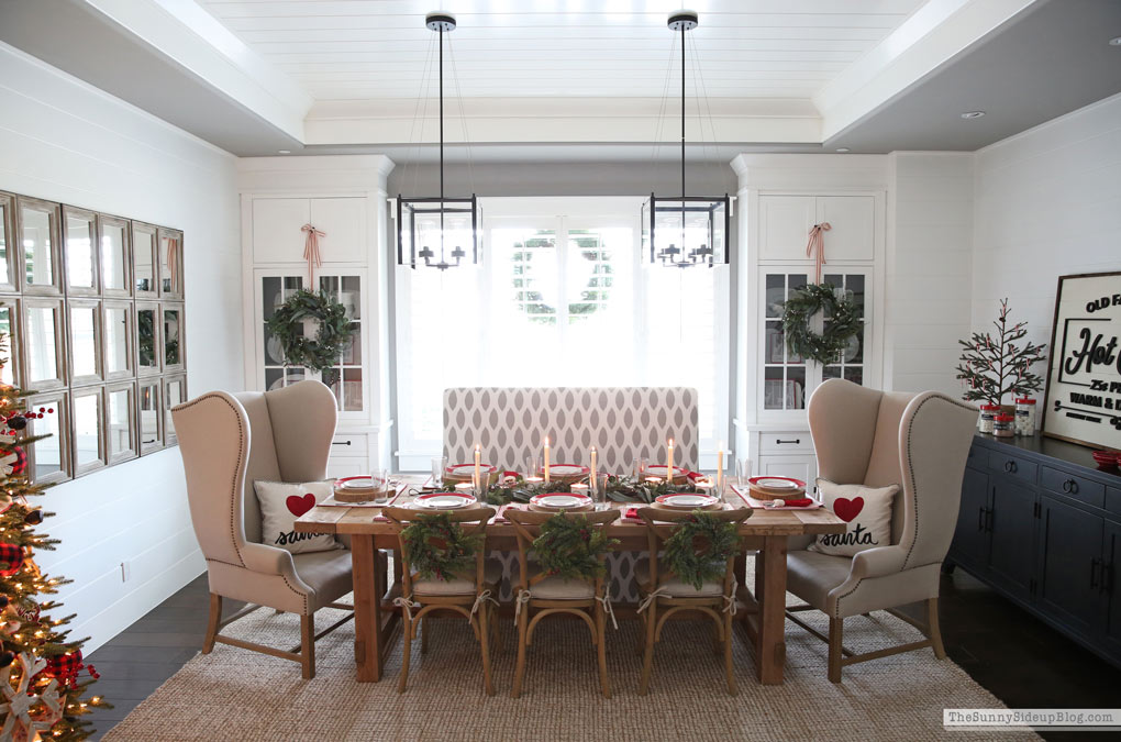 Dining Room Christmas Decor (Sunny Side Up)