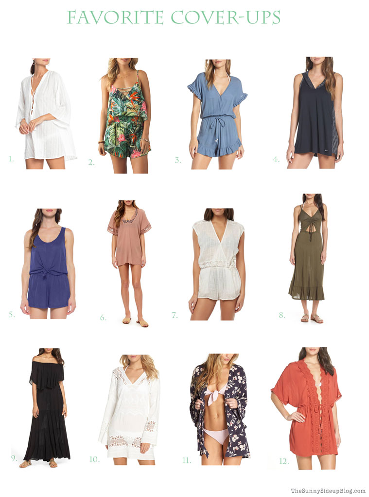 Favorite Swimsuits, cover-ups and straw bags! (Sunny Side Up)
