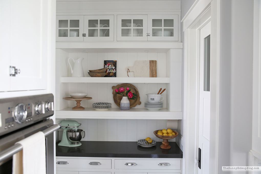 Kitchen Shelf Styling (Sunny Side Up)