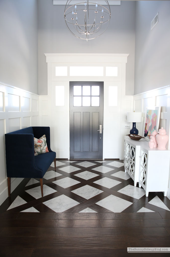 Entry marble wood floor (Sunny Side Up)