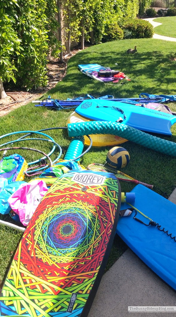 Outdoor Pool Organization (Sunny Side Up)