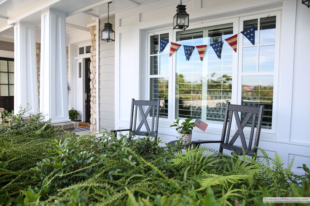 4th of July Porch (new rocking chairs!) Sunny Side Up