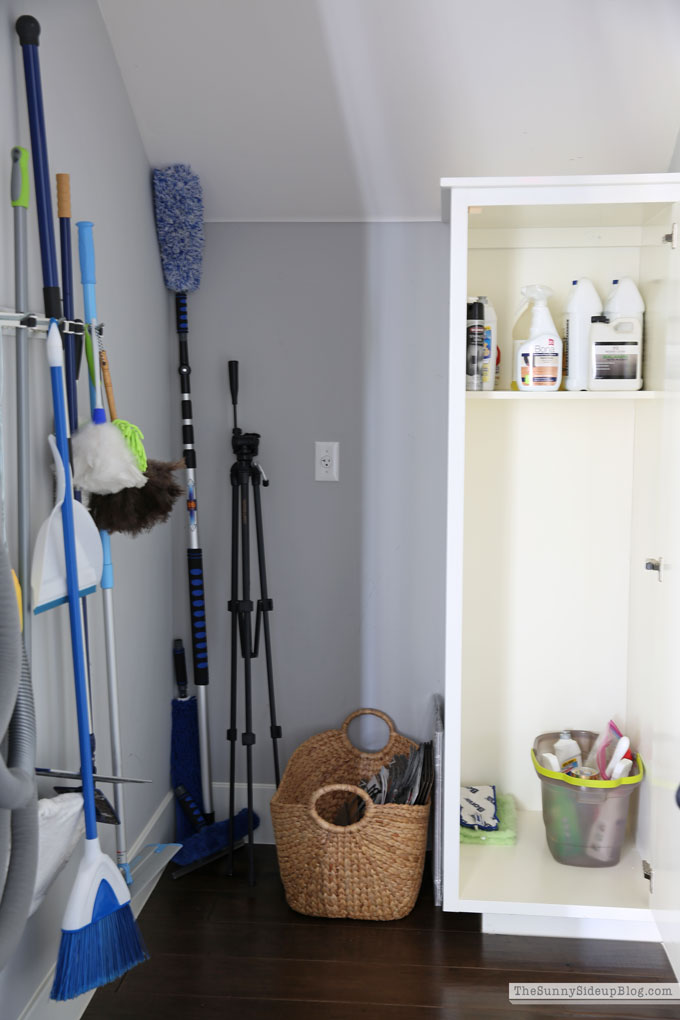 Organized Cleaning Closet (Sunny Side Up)