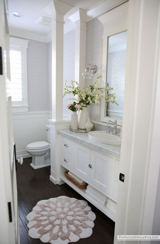 Powder Bathroom Summer Decor (Sunny Side Up)