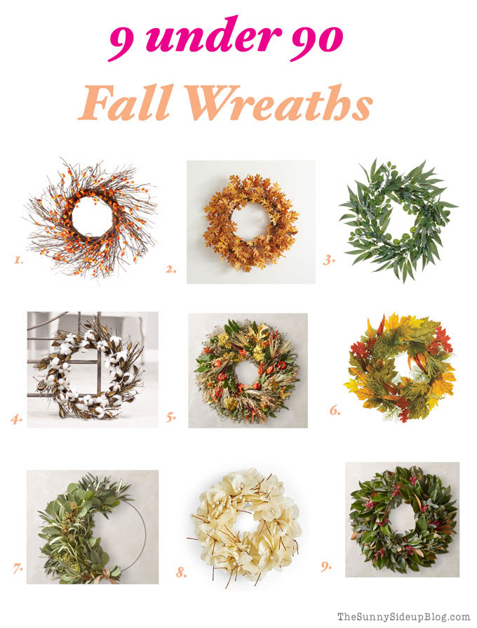 Fall Wreaths (9 under 90!)