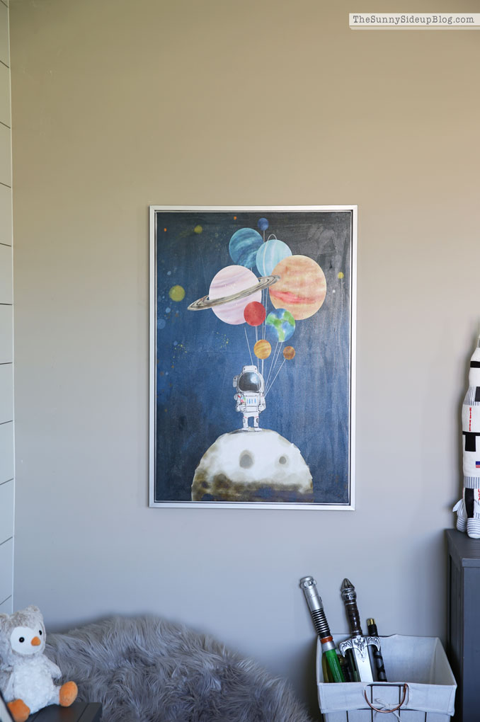 Boys Space Themed Bedroom (Sunny Side Up)