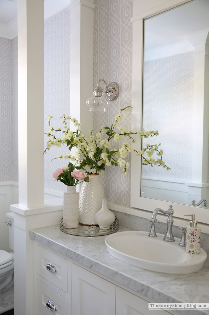 Powder Bathroom Summer Decor (Sunny Side Up)