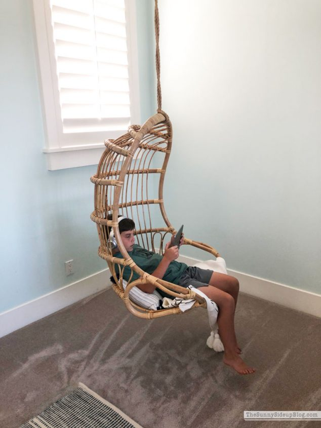 Playroom update (rattan chair) Sunny Side Up