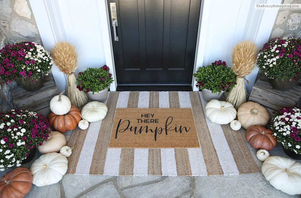 Purple and White Fall Porch (Sunny Side Up)