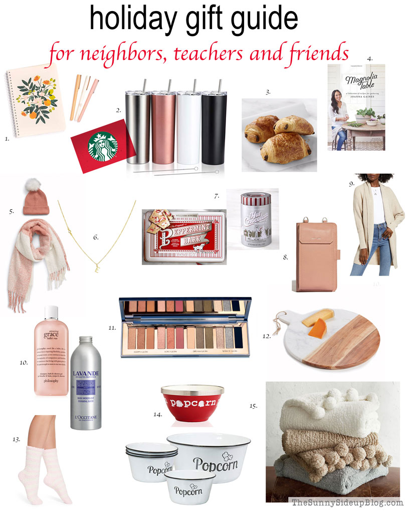 Holiday Gift Guide - Neighbors, Teachers, Friends (Sunny Side Up)