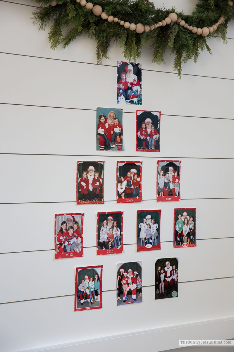 Santa Picture Display Wall (Sunny Side Up)