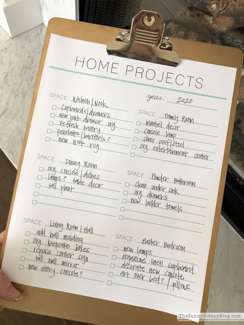 home projects printable (Sunny Side Up)