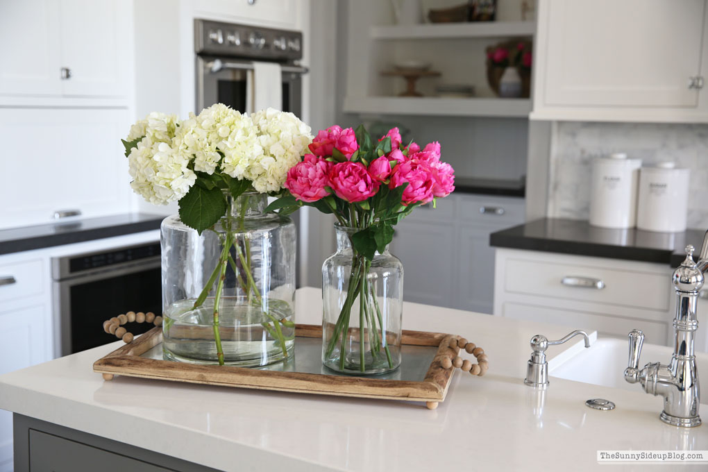 Favorite vases and faux flowers (Sunny Side Up)