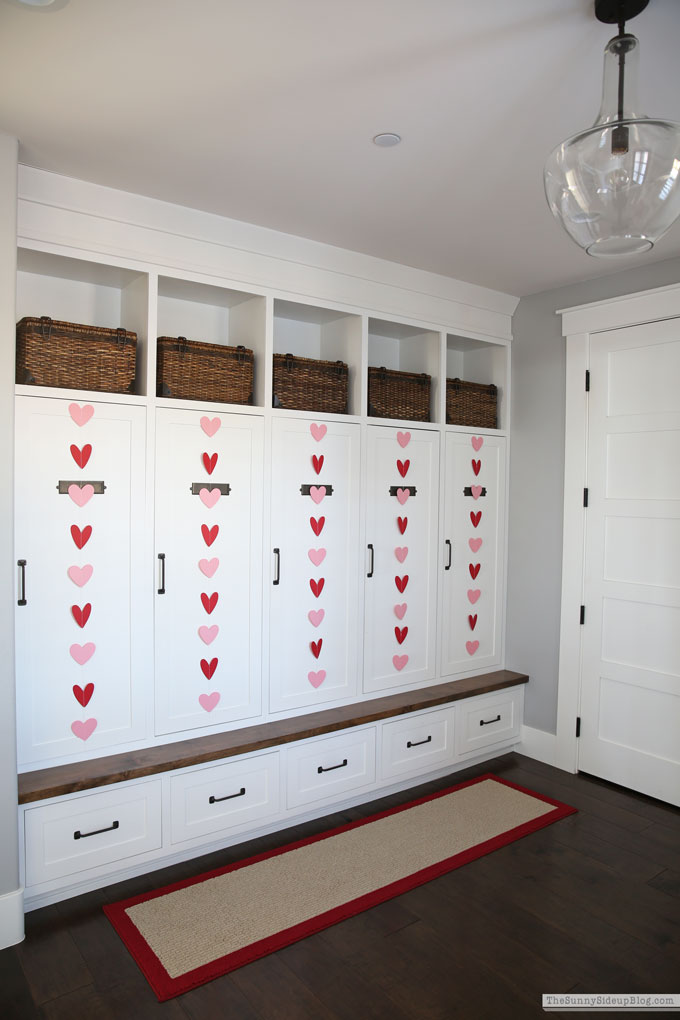 Mudroom Valentine's Day Decor (Sunny Side Up)