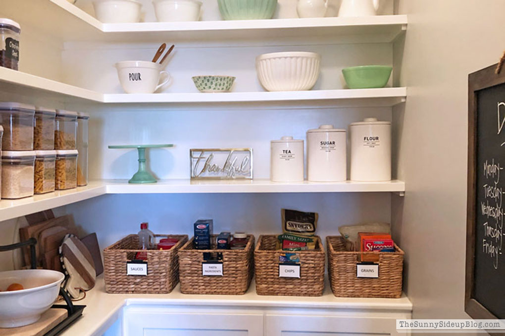 Organized pantry, recipes and what I've been wearing