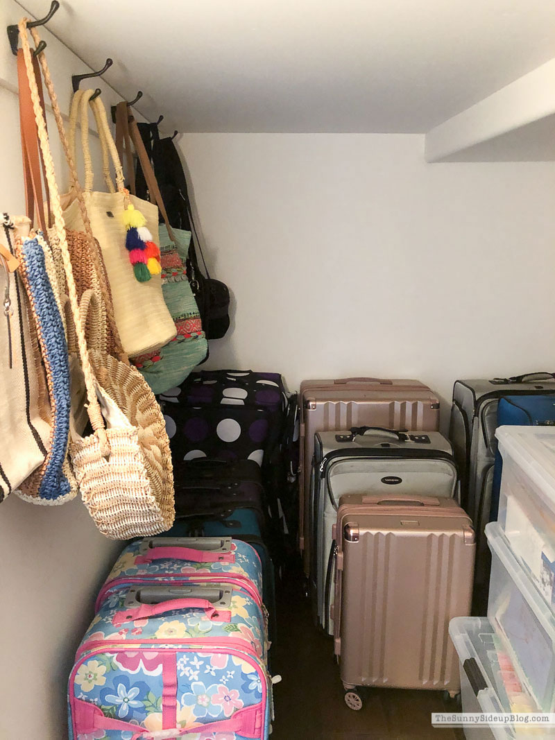Organized Luggage Closet (Sunny Side Up)