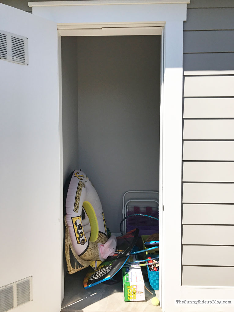 Organized Pool Closet (Sunny Side Up)